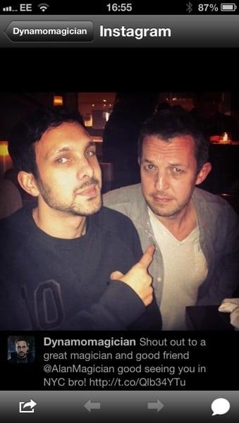 Alan and Dynamo Magician