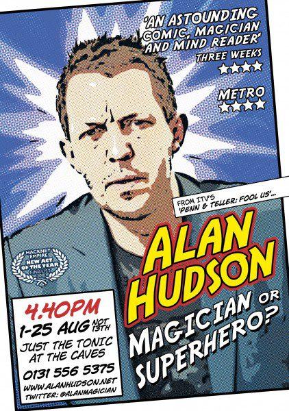 Edinburgh Fringe Poster Alan Hudson