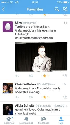 Alan Hudson Edinburgh Reviews 3