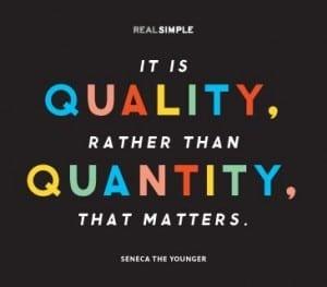Quality Quantity