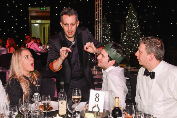 Magician at X-Mas Party in London 2